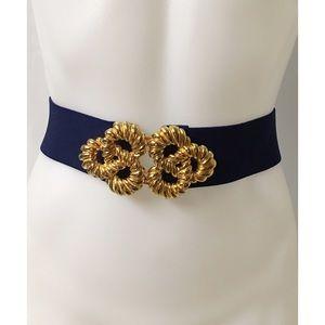 Blue & Gold Vintage Belt Size M/L